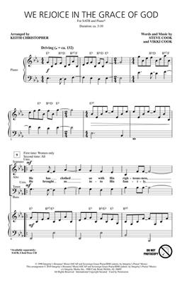 Steve Cook: We Rejoice in the Grace of God: Arr. (Keith Christopher): SATB