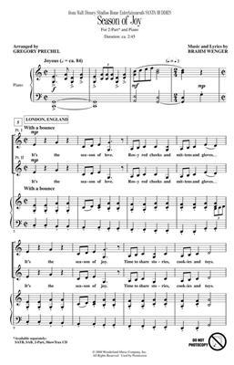 Brahm Wenger: Season of Joy: Arr. (Gregory Prechel): 2-Part Choir