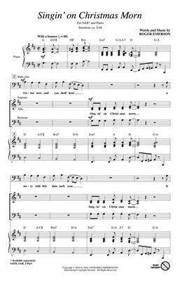 Roger Emerson: Singin' on Christmas Morn: SAB