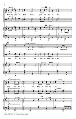 Traditional: Sing We Now Of Christmas : Arr. (John Leavitt): SATB