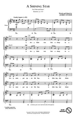 Audrey Snyder: A Shining Star: 2-Part Choir