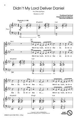 Spirituals for Two: Arr. (Roger Emerson): 2-Part Choir