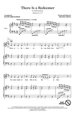 Melody Green: There Is a Redeemer: Arr. (Keith Christopher): SATB