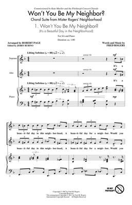 Fred Rogers: Won't You Be My Neighbor?: Arr. (Robert Page): SATB