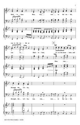 Douglas E. Wagner: Run to the Stable: SATB