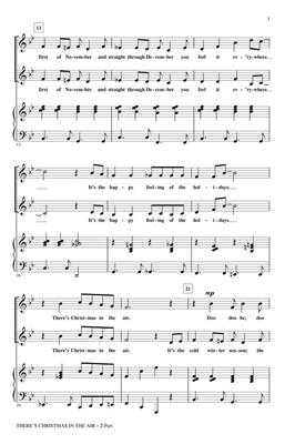 George L.O. Strid: There's Christmas in the Air: 2-Part Choir