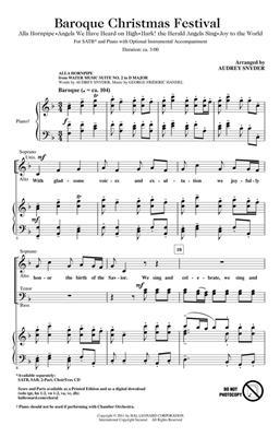 Baroque Christmas Festival: Arr. (Audrey Snyder): SATB