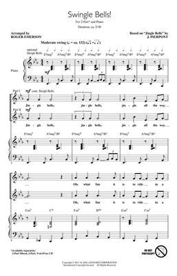 J. Pierpont: Swingle Bells!: Arr. (Roger Emerson): 2-Part Choir