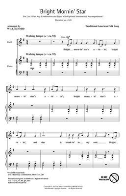 Bright Mornin' Star: Arr. (Will Schmid): Mixed Choir