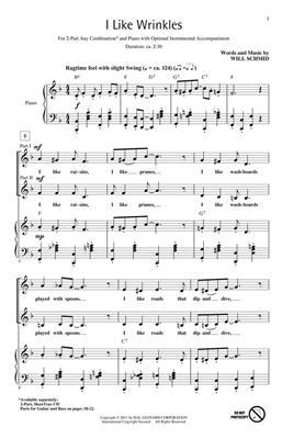 Will Schmid: I Like Wrinkles: 2-Part Choir