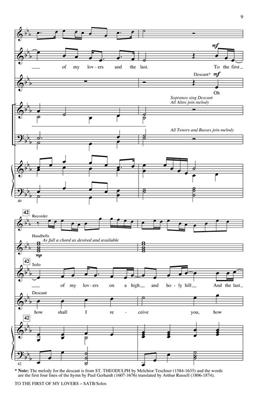 Sydney Carter: To the First of My Lovers: Arr. (Craig Hella Johnson): SATB