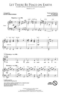 Jill Jackson: Let There Be Peace on Earth: Arr. (Keith Christopher): SATB