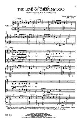 Jim Ailor: The Love Of Christ, My Lord: SATB