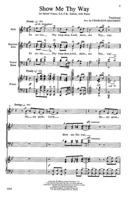 Show Me Thy Way: Arr. (Charles Gilchrist): SATB