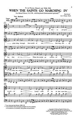 When The Saints Go Marching In: Arr. (Diane Bish): SATB