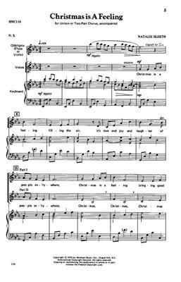 Natalie Sleeth: Christmas Is A Feeling: Arr. (Natalie Sleeth): Unison or 2-Part Choir