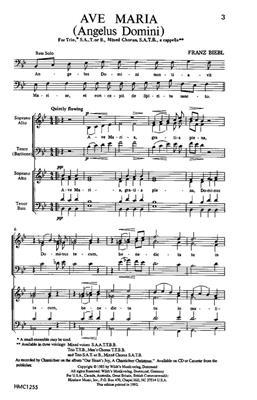 Franz Biebl: Ave Maria: SATB