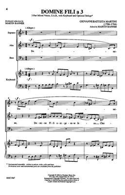 Giovanni Battista Martini: Domine Fili A 3: Arr. (Giovanni Battista Martini): SAB