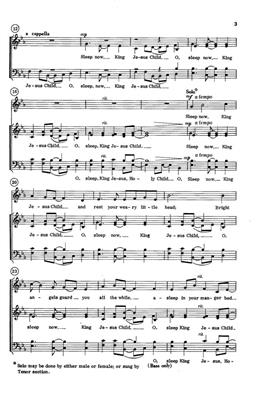 David Peninger: Sleep Now, King Jesus Child: Arr. (David Peninger): SATB