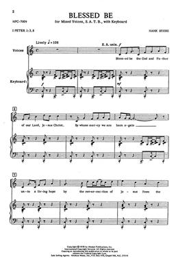 Hank Beebe: Blessed Be: Arr. (Hank Beebe): SATB