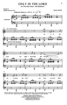 Hank Beebe: Only In The Lord: Arr. (Hank Beebe): 2-Part Choir