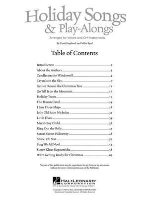 David Asplund: Holiday Songs and Play-Alongs