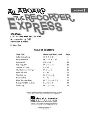 All Aboard The Recorder Express - Volume 1