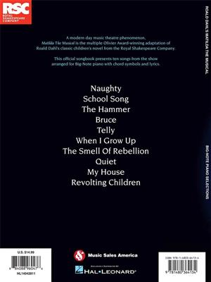 Tim Minchin: Matilda The Musical: Big Note Piano Selections: Piano or Keyboard