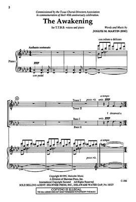 Joseph M. Martin: The Awakening: Men's Choir