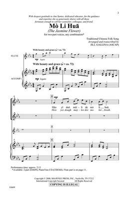 Mo Li Hua (The Jasmine Flower): Arr. (Jill Gallina): 2-Part Choir
