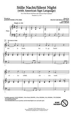 Greg Gilpin: Silent Night: Mixed Choir