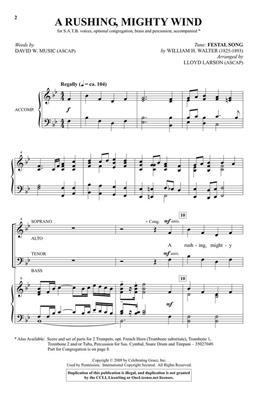 Lloyd Larson: A Rushing, Mighty Wind: Mixed Choir