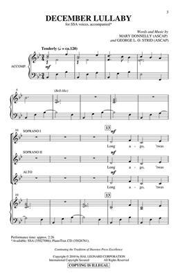 George L.O. Strid: December Lullaby: SSA