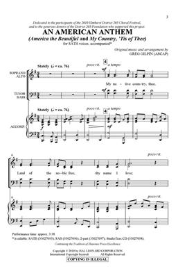 Greg Gilpin: An American Anthem: Mixed Choir