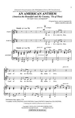 Greg Gilpin: An American Anthem: Mixed Choir