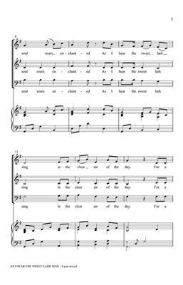 Greg Gilpin: As I Hear the Sweet Lark Sing: Mixed Choir