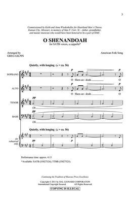 Greg Gilpin: O Shenandoah: Mixed Choir