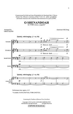 Greg Gilpin: O Shenandoah: Men's Choir