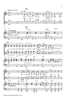 Benny Andersson: Thank You for the Music: Arr. (Jerry Estes): SATB
