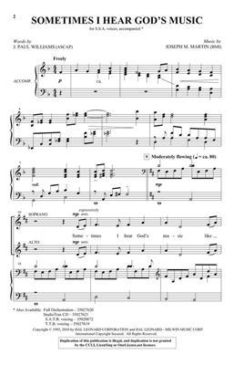 Joseph M. Martin: Sometimes I Hear God's Music: SSA