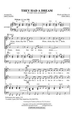 John Shea: They Had a Dream: Mixed Choir