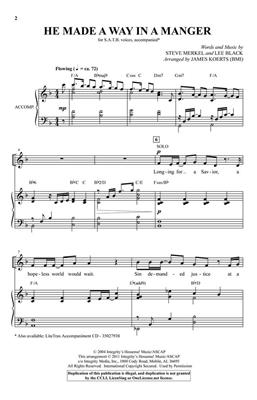 Lee Black: He Made a Way in a Manger: Arr. (James Koerts): SATB