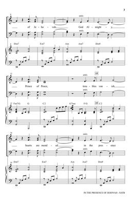 Becky Davis: In the Presence of Jehovah: Arr. (James Koerts): SATB