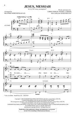 Chris Tomlin: Jesus Messiah - Benson Orchestra Series, Vol. 6: Arr. (Heather Sorenson): SATB