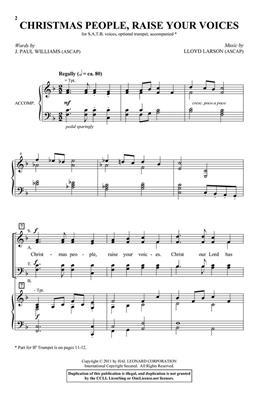 Lloyd Larson: Christmas People, Raise Your Voices: Mixed Choir