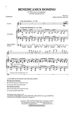 Greg Gilpin: Benedicamus Domino: Men's Choir