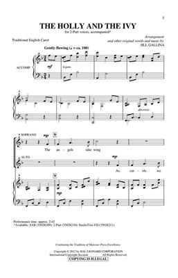 The Holly and the Ivy: Arr. (Jill Gallina): 2-Part Choir