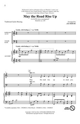 Traditional: May the Road Rise Up: Mixed Choir