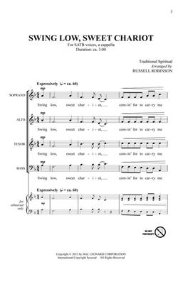 Russell L. Robinson: Swing Low, Sweet Chariot: Mixed Choir