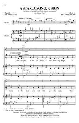 Brad Nix: A Star, A Song, A Sign: 2-Part Choir